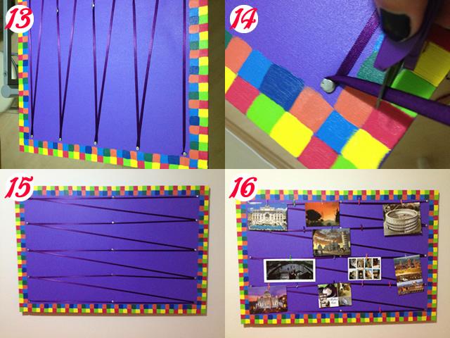 Varal de fotos for Bordas para mural