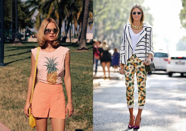 Resultado de imagem para roupas lindas com estampas de abacaxi