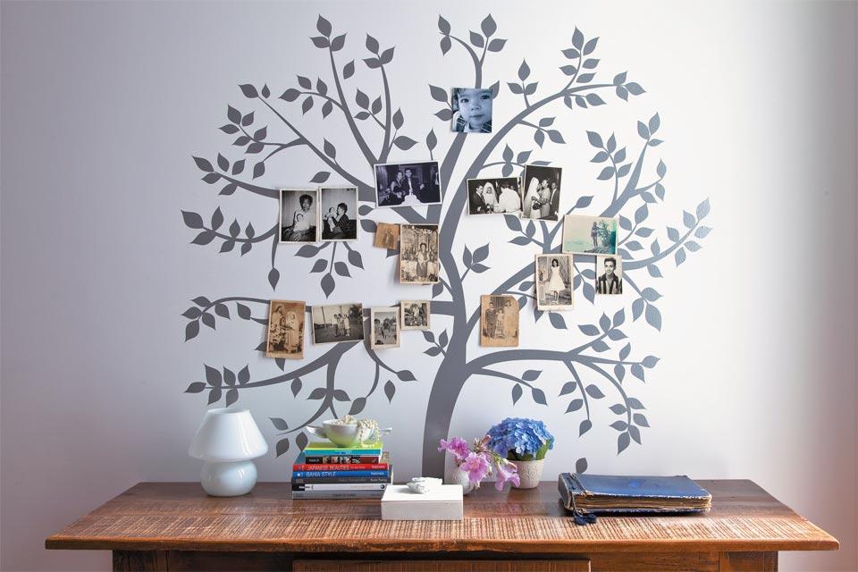 Adesivos De Letras Pequenas ~ Decoraç u00e3oÁrvore Genealógica de Fotos da Família Troca